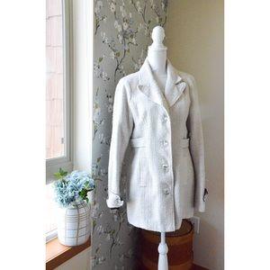 BKE OUTERWEAR metallic knit pea coat